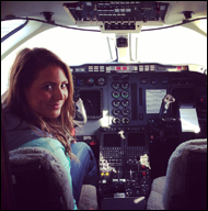 A Woman Taking Aviation Lessons